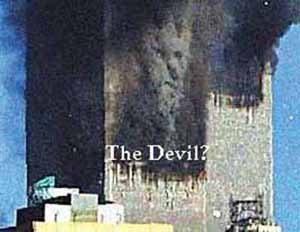 Devils Face in Smoke 911  Christian Media Resources