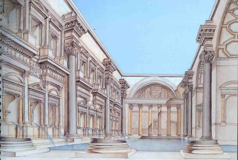 ancient roman baths thermae baths of caracalla. Black Bedroom Furniture Sets. Home Design Ideas