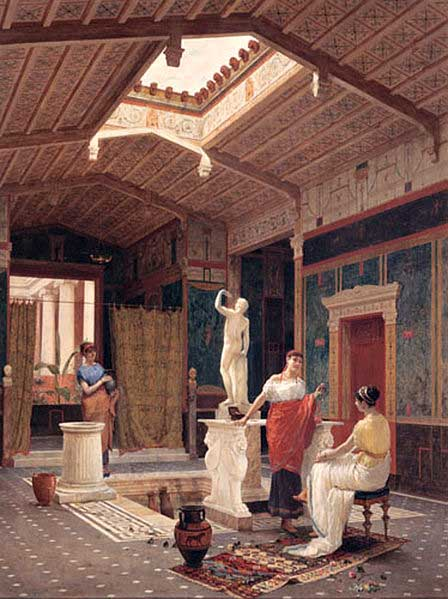 Ancient roman homes domus insulae villa crystalinks for Ancient roman interior decoration
