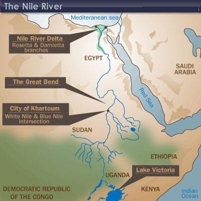 History Of Ancient Egypt Crystalinks - Map of egypt with nile river