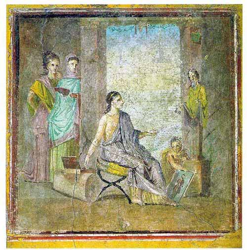Art in ancient rome crystalinks for Ancient greek mural
