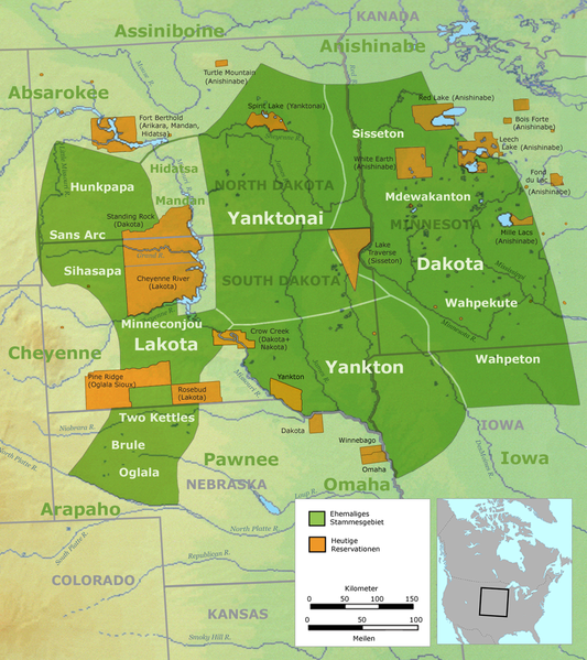Major Linguistic Groups Native American Map.Sioux Nation Crystalinks