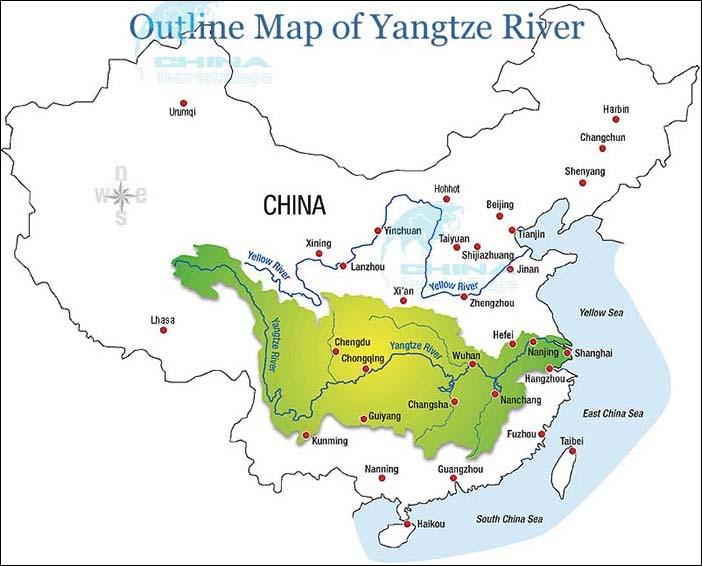 The yangtze river turns red