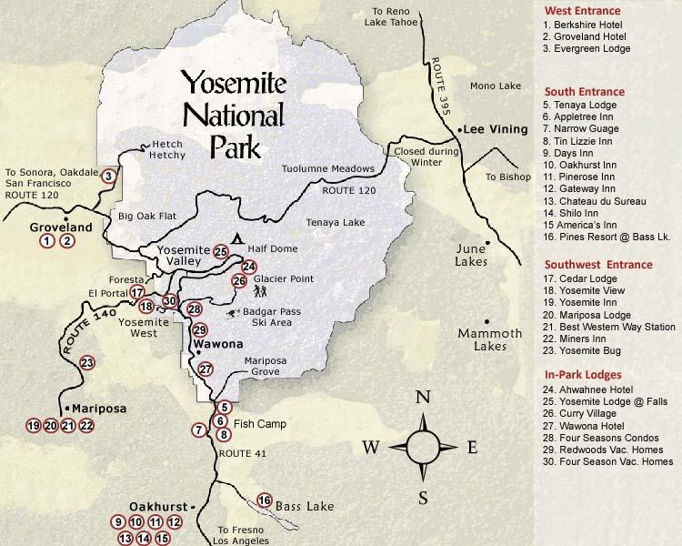Yosemite National Park on map of orlando attractions, map of usa attractions, map of yellowstone attractions, map of venice attractions, map of hollywood attractions, map of disneyland attractions,