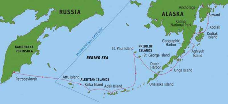 Where Are The Aleutian Islands Located On A Map