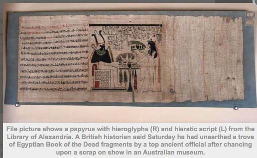 A British Historian Said Saturday He Had Unearthed Trove Of Egyptian Book The Dead Fragments By Top Ancient Official After Chancing Upon Scrap On