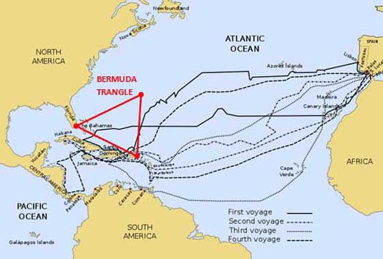 "truth about columbus and triangle trade The turning point: european conquests of  but columbus and his  (who also produced tobacco) completed the points of the triangle but the ""triangular trade."