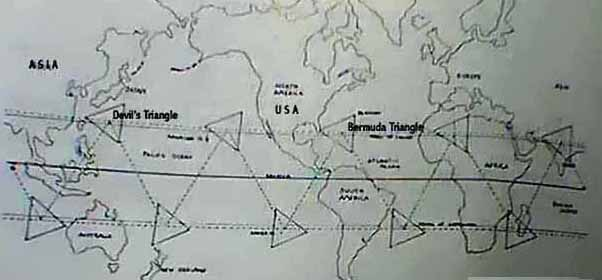The Bermuda Triangle Columbus Devils Triangle Columbus Famous - Bermuda in relation to us map
