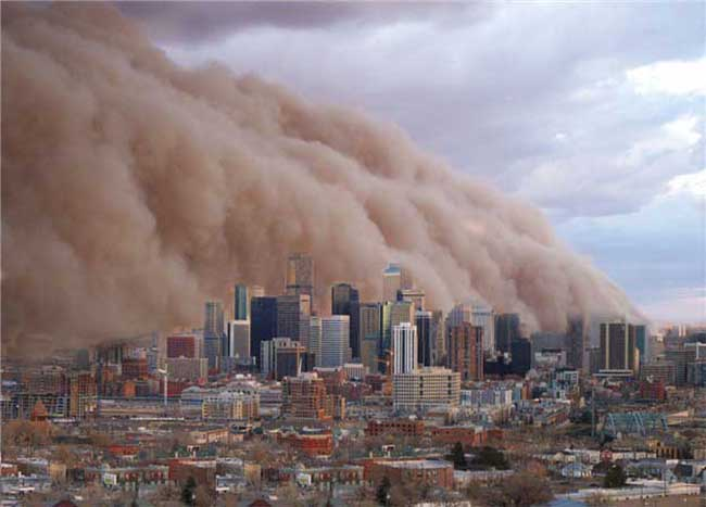 Sun City West Az >> Dust storms have been observed on planet Earth as well as on Mars.