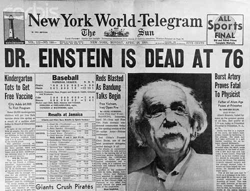 News Headlines Picture: Albert Einstein