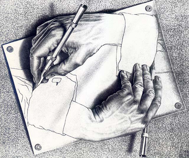 M C Escher Perception Geometry Thinking Outside The Box