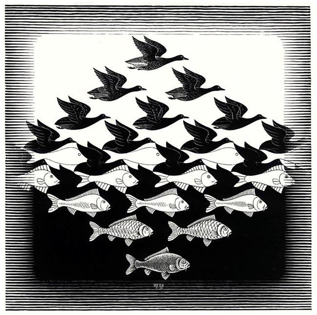 M. C. Escher, Perception, Geometry, Thinking Outside the Box