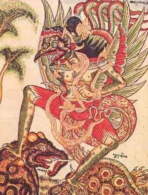 Garuda on Phoenix Bird Drawings