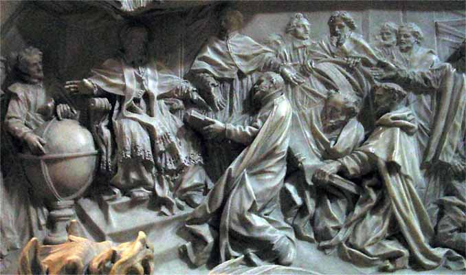 Tomb of Pope Gregory XIII celebrating the introduction of the ...