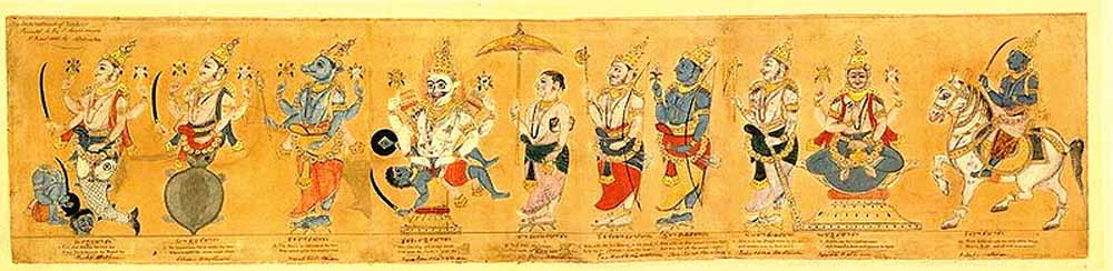 Image result for avatars of vishnu