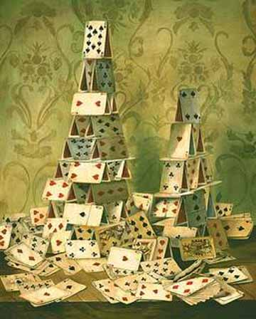 house of cards falling