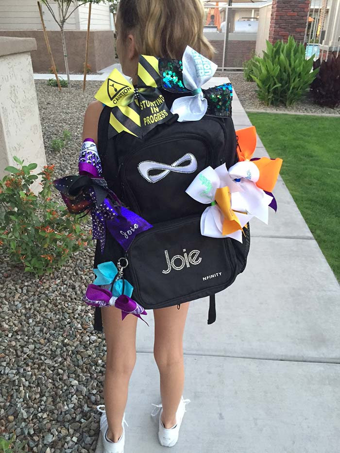 nfinity large backpack infinity felicia cheerleaders and entry tempel by cheer image discovered backpacks gold