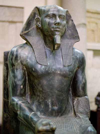Standing Sculpture: King Menkaure and Queen Kha-Merer-Nebu II