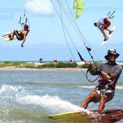 Kiteboarding can be land kiteboarding, kitesurfing, snowkiting (snow