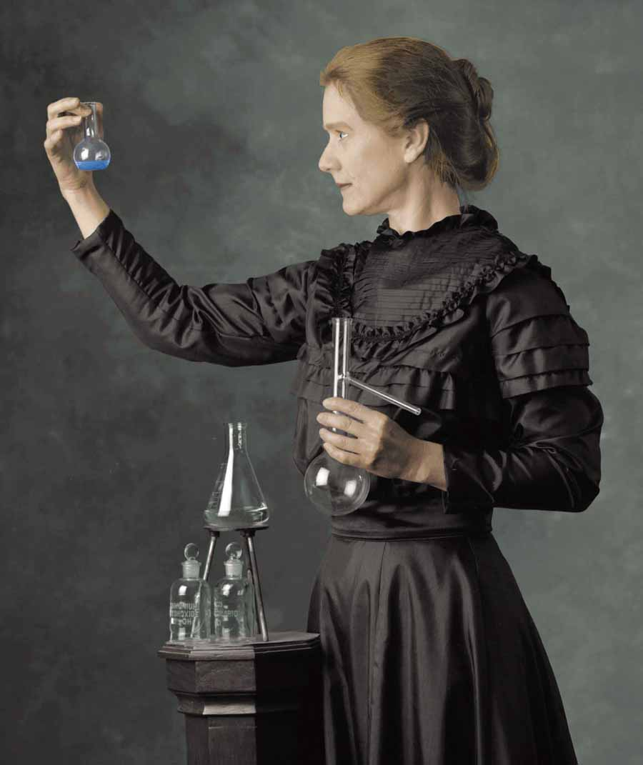 Marie Curie had the basic science education from local schools, in addition she received some scientific training from her father.