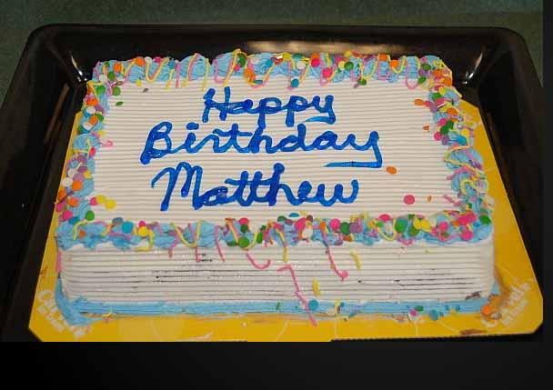 Happy Birthday, Matthew! Mathb7bridgeport