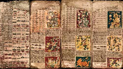 Mayan codices dresden codex crystalinks for Definicion de pintura mural