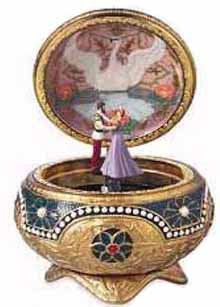 Old Fashioned Music Jewelry Box