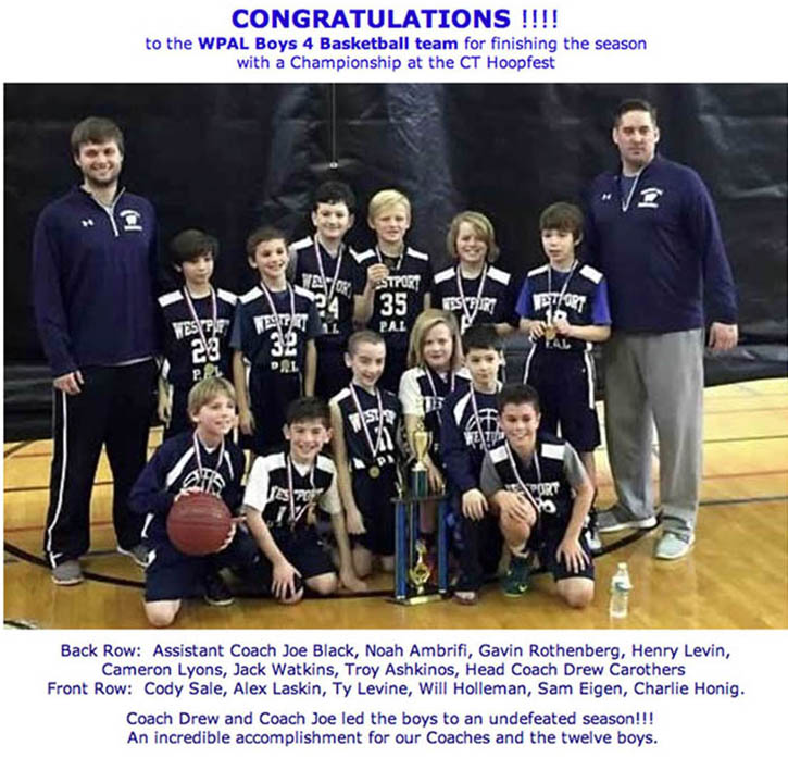 Noah and his team with the 4th grad P.A.L. Basketball ...