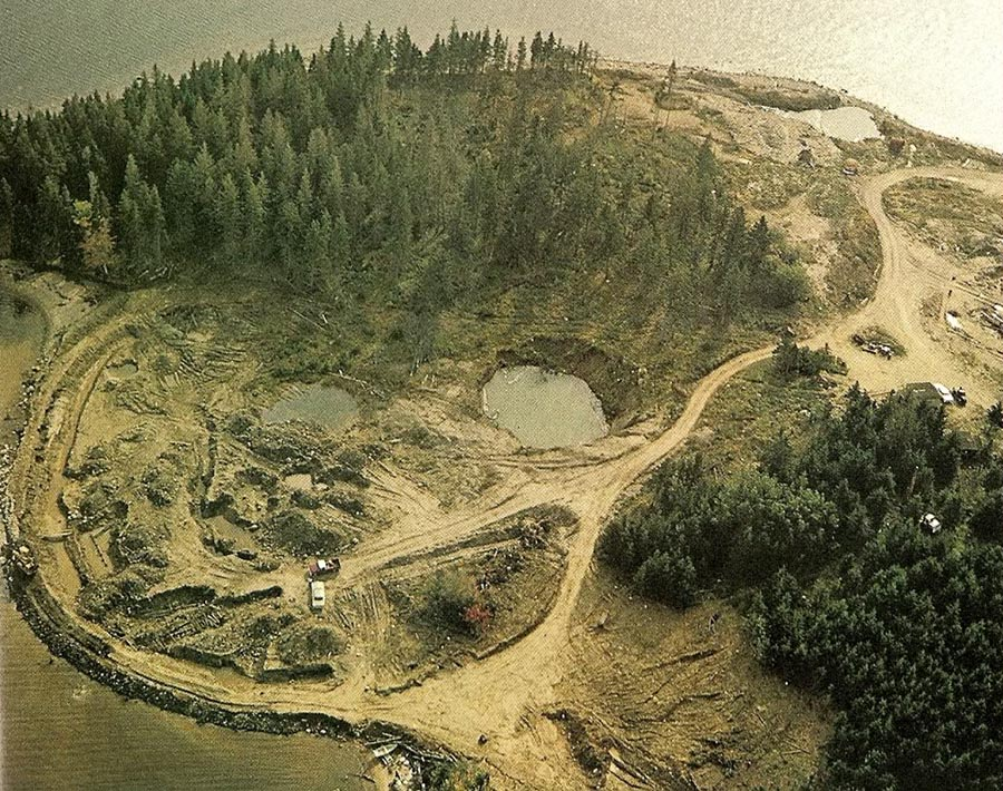 What is found at oak island