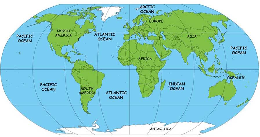 Oceanography Crystalinks - Oceanographic map