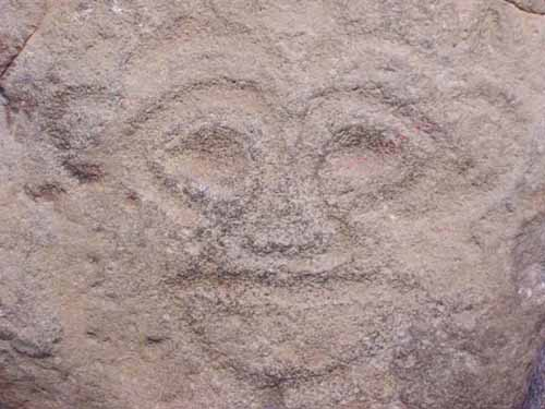 UFO Rock Engraving South America