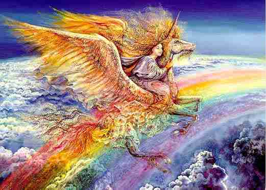 Unicorn With Wings And Rainbow Crop Circles .....
