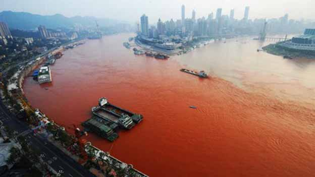 For A River Known As The Golden Watercourse Red Is Strange Color To See Yet That S Shade Turning Up In Yangtze And Officials Have No