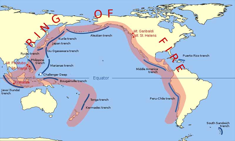 Ring Of Fire Earthquakes March April 2014