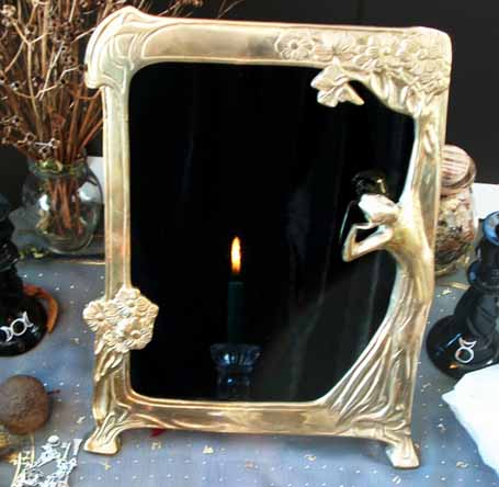 Mirror Scrying Troxler Effect Crystalinks