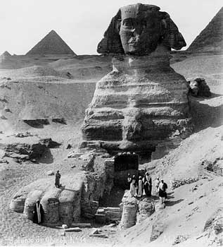 what direction does the sphinx face
