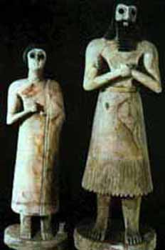 Sumerian Statuettes From The Temple Of Abu Tel Asmar C