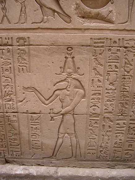 Thoth - God of the Moon, Magic and Writing  Thothreliefhorus