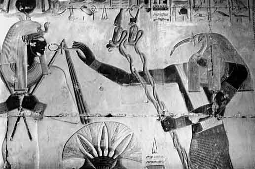 Thoth - God of the Moon, Magic and Writing  Thothsetiabydos