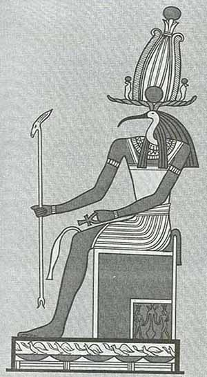 Thoth - God of the Moon, Magic and Writing  Thoththronebw