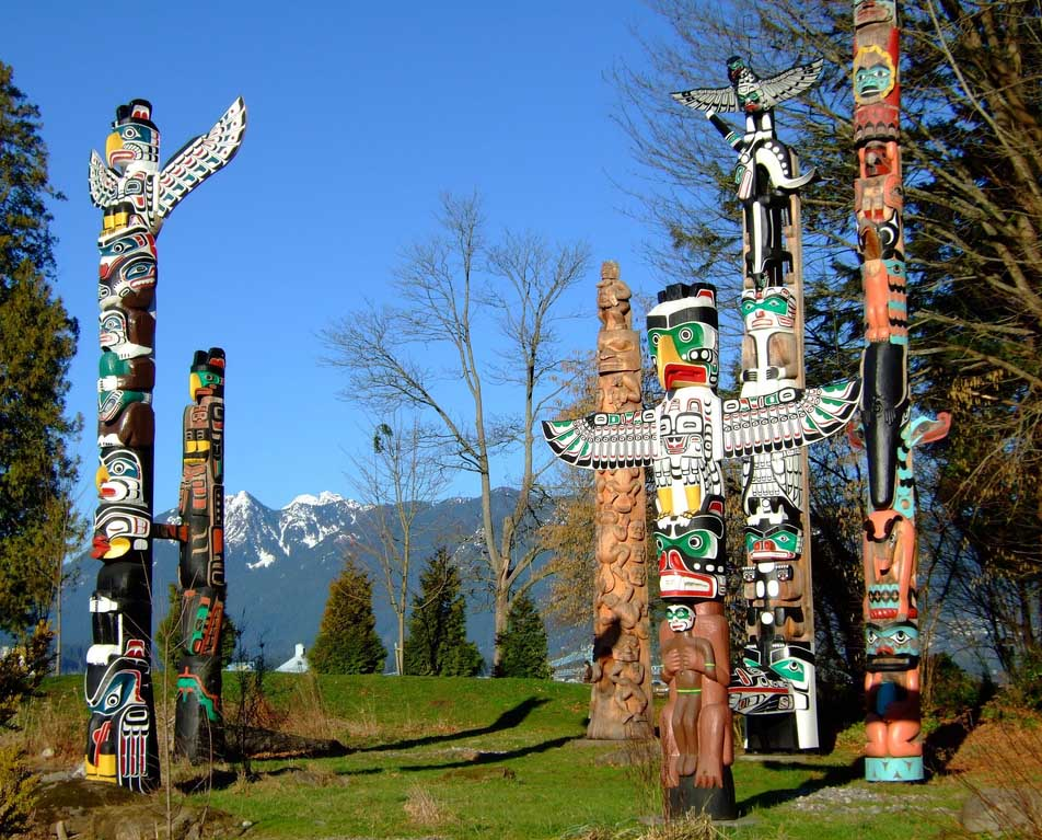 totem poles of haida indians Totem pole design totem pole stories  use of color totem gifts totem paper knives totem miniatures totem museum totem contest preserving totems  [ totem poles.