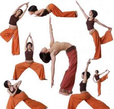Yoga Poses And Hindi Names Chart Postures